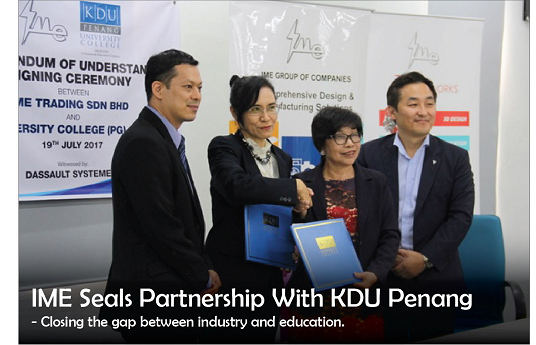 IME Seals Partnership with KDU Penang
